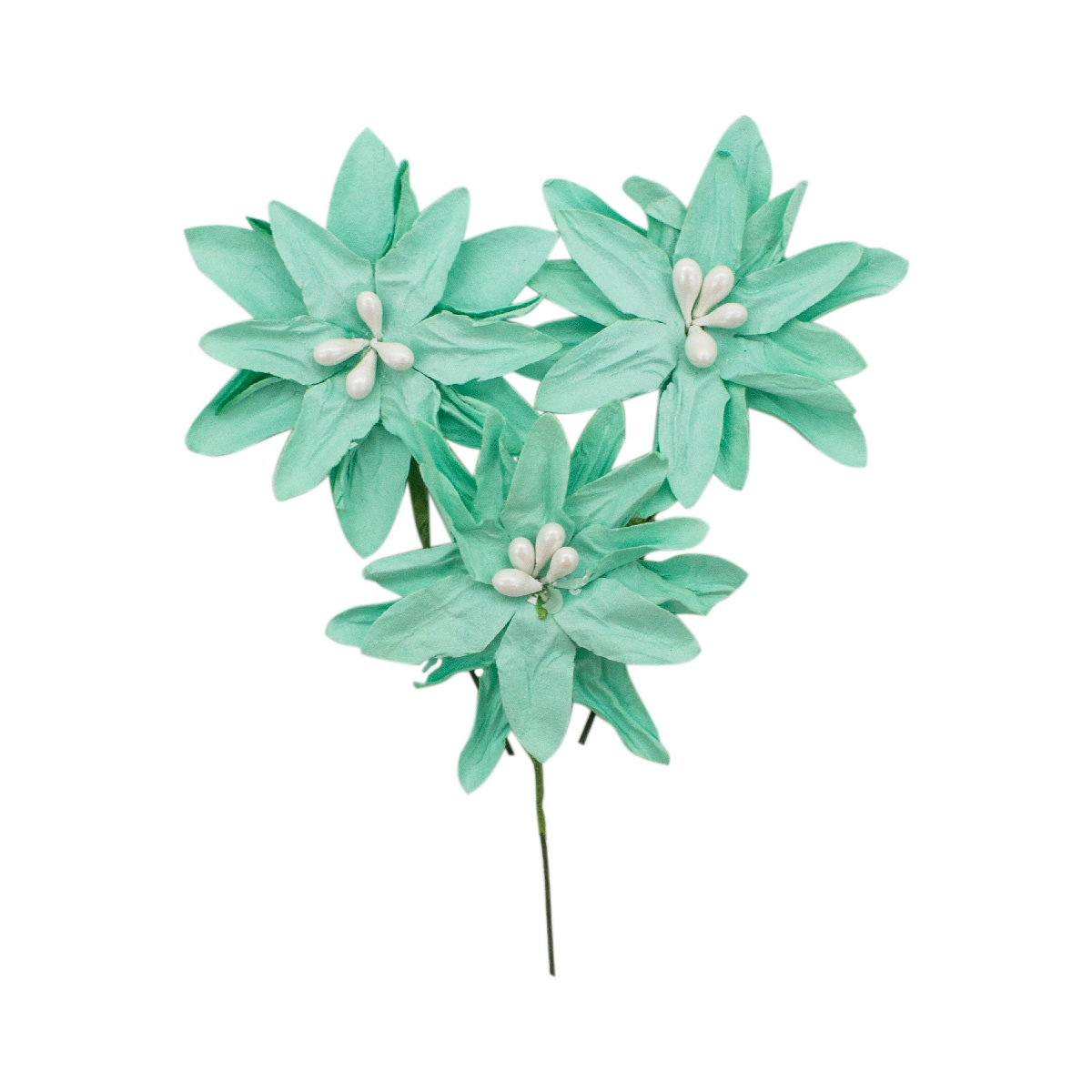 YX15-145 Бумажные цветы 'Ромашки', d 5 см, упак./4 шт., 'Астра'