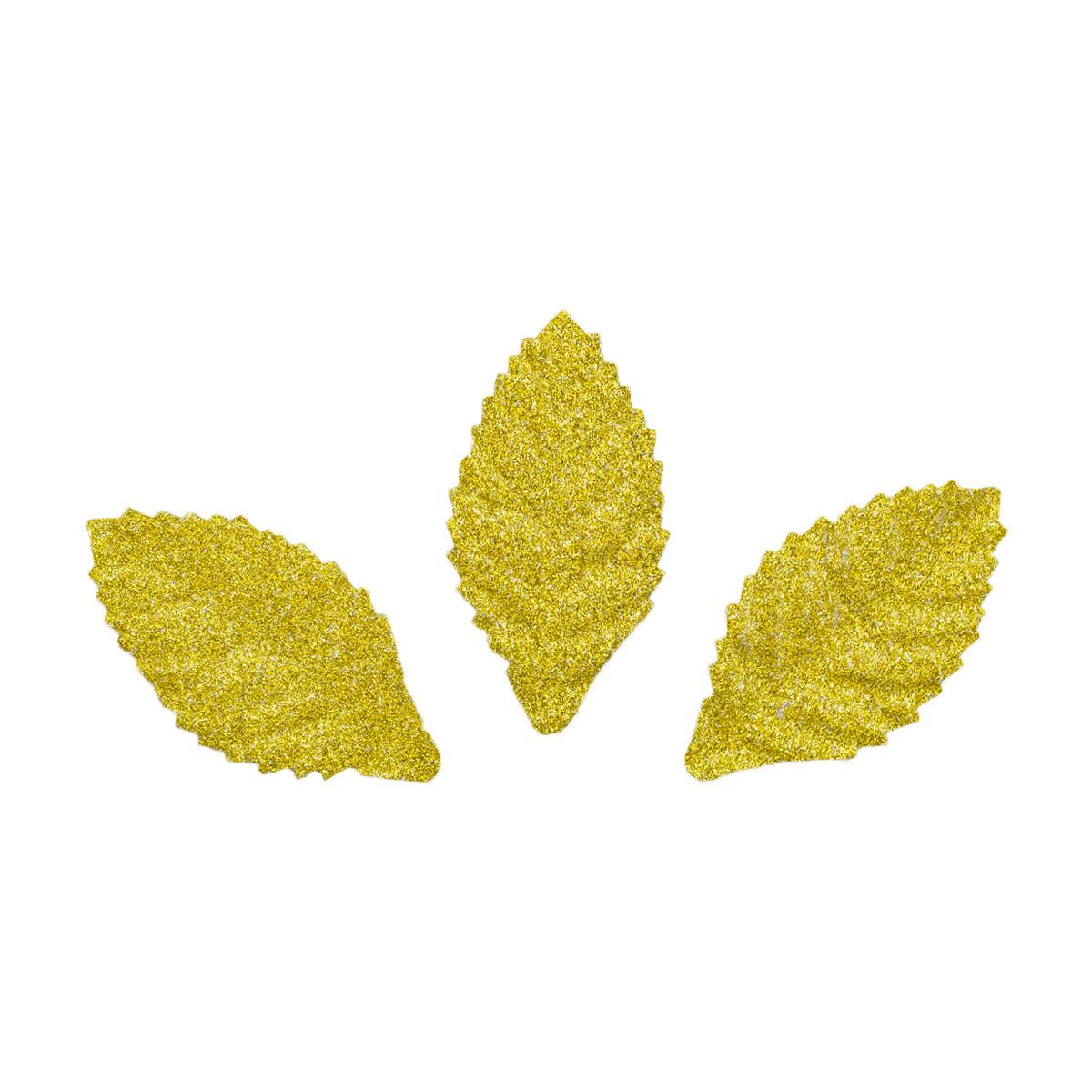 YX15-117 Бумажные листья с блестками, 3,8*2 см, упак./8 шт., 'Астра'