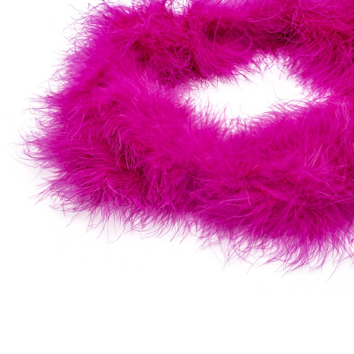 Боа пух 20гр/1,8м, 1шт HT0901 (ярко розовый-213C) фото