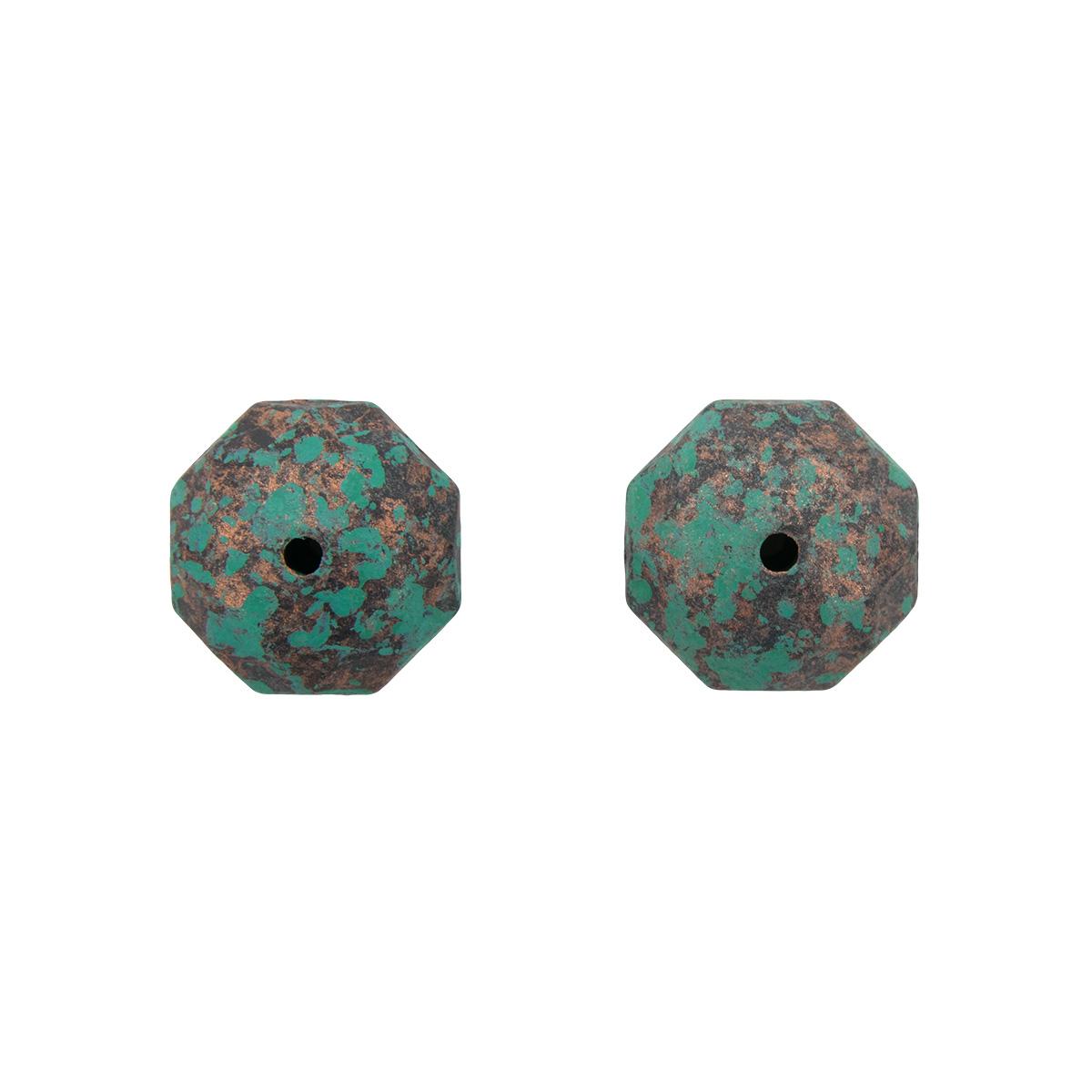 3560 Бусины декоративные, 18*13 мм, упак./2 шт., 'Астра'