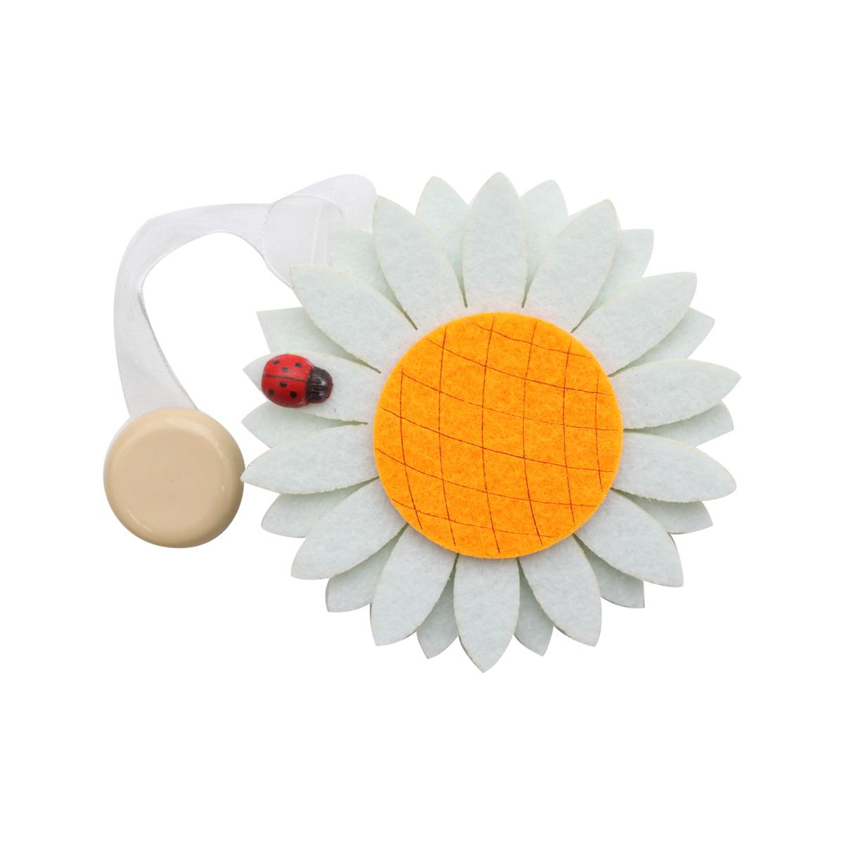 0368-0127 Клипса-магнит из фетра для штор 'ромашка' 'Астра'