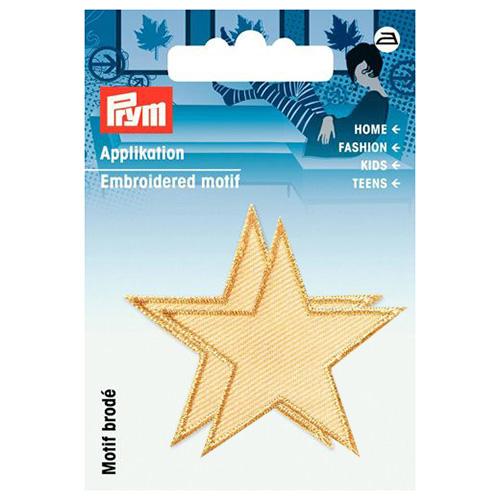 923153 Термоаппликация Звезды бежевый цв. 2 шт. Prym