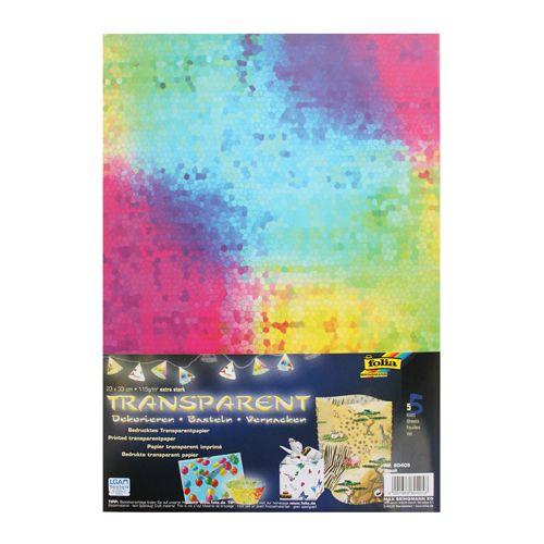 80405 Транспарентная бумага 'Мозаика', 115 г/м², 23*33 см, упак./5 листов, Folia