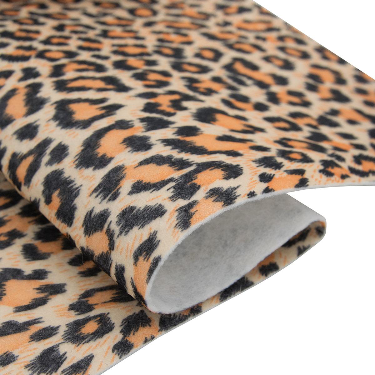 Фетр листовой декоративный 'Леопард' Астра, 1,0мм, 180 гр, 20*30 см, 5 шт/упак