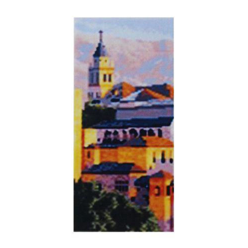 F0804 Мозаика 'В городе' 17*40 см. (холст 20*43см), Cristal
