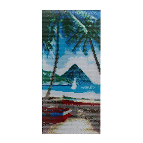 F0805 Мозаика 'Пляж' 17*40 см. (холст 20*43см), Cristal