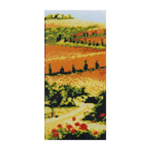 F0807 Мозаика 'В полях' 17*40 см. (холст 20*43см), Cristal