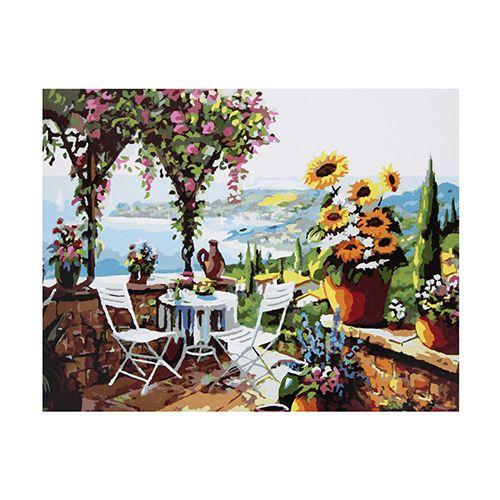 GX8057 Набор для раскрашивания по номерам 'Летняя терасса', 40х50 см