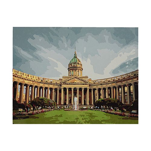GX8120 Набор для раскрашивания по номерам 'Казанский собор', 40х50 см