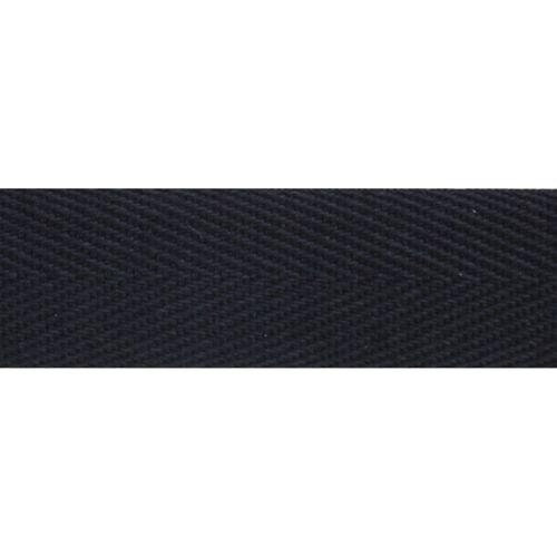 901423 Хлопчатобумажная тесьма особо крепкая, черный цв., 20мм, 50м Prym