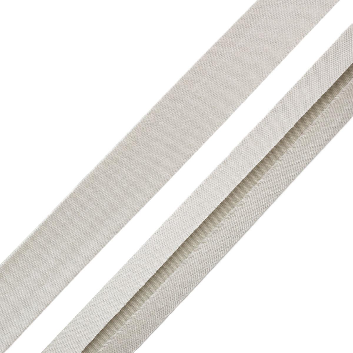 903604 Косая бейка - дюшес 40/20 мм, серебристо-серый цв., 30м Prym