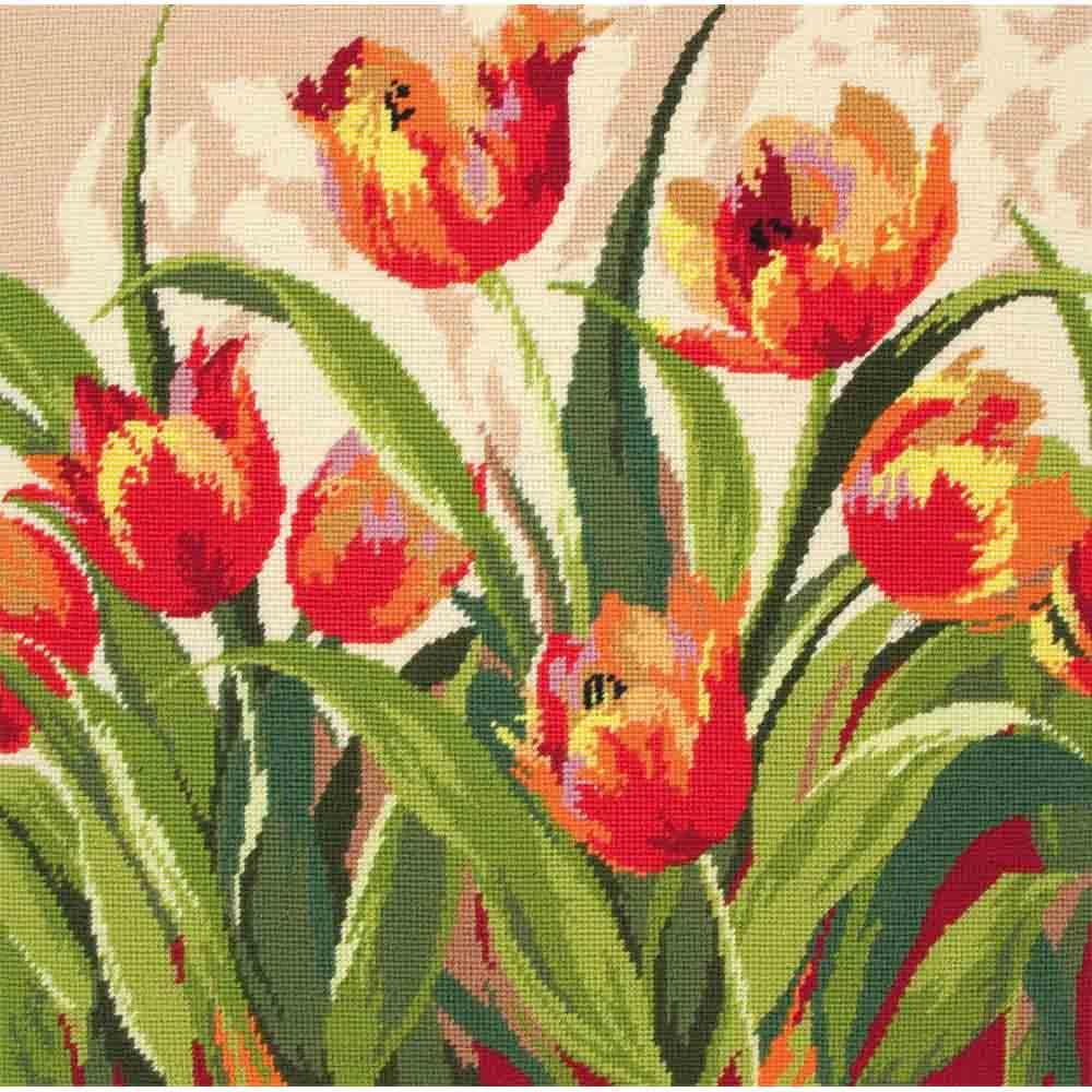 09009-5678000 Набор для вышивания MAIA 'Романтичные тюльпаны' 40х40см