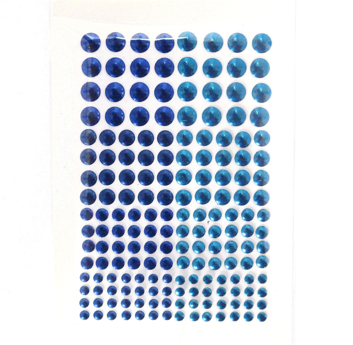 KS-C-METAL Термоклеевые стразы металлик круглые 3/4/5/6мм, 114шт Ki Sign