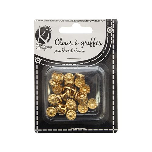 KS-GRD10OR Заклепки круглые с декором 10мм, золото, 30 шт Ki Sign