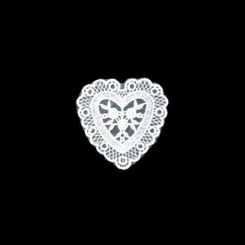 KS-MD03 Термоаппликация кружевная 'Сердце 3', 7*7см, 1шт Ki Sign