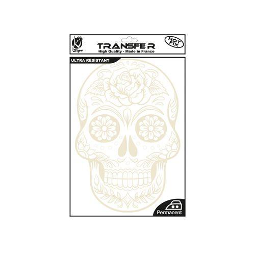 KS-TRB-SKULLMEX Термотрансферный мотив 'Мексиканский череп', белый, А4 Ki Sign