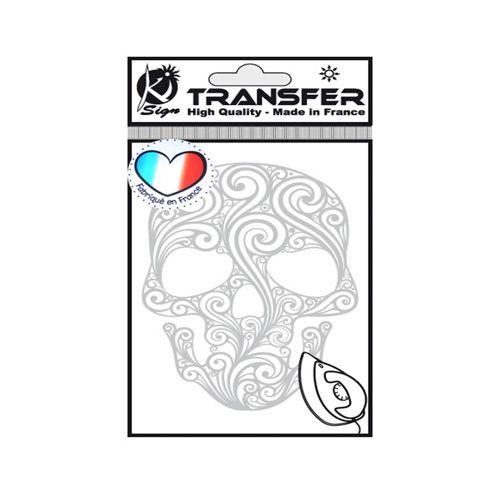 KS-TRM-A02 Термотрансферный мотив 'Череп', серебро, 9*14,5см Ki Sign