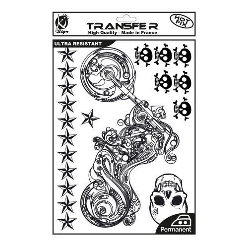 KS-TRN-MOTO Термотрансферный мотив 'Байк', черный, А4 Ki Sign