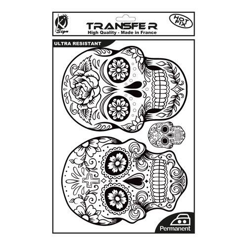 KS-TRN-SKULL2 Термотрансферный мотив 'Мексиканские черепа 2', черный, А4 Ki Sign