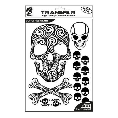 KS-TRN-TDMORT Термотрансферный мотив 'Мексиканские черепа', черный, А4 Ki Sign