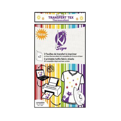 KS-TPRINTA4 Ткань для печати термотрансферного мотива, А4, 2шт. Ki Sign