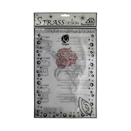 KS-MOSM005 Термоаппликация из страз 'Роза', 15*25см Ki Sign
