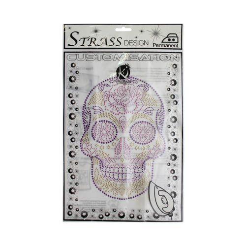 KS-MOSM028 Термоаппликация из страз 'Мексиканский череп', 19*25см Ki Sign