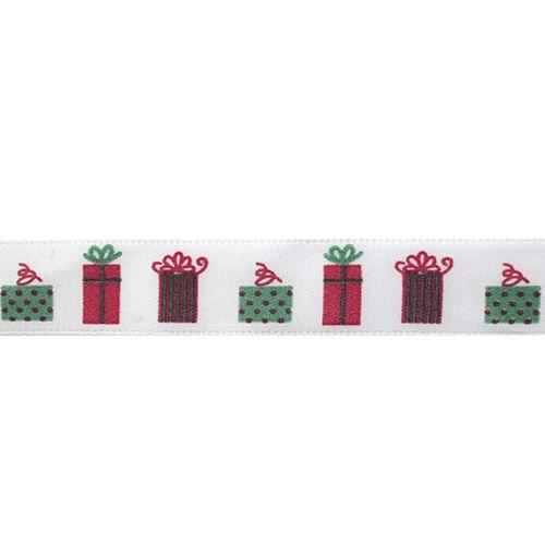 Лента атласная 'Подарки', 15мм*22,5м