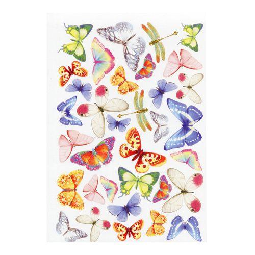 GDTEM001 Фоамиран с принтом 'Бабочки', 20*30 см, Renkalik