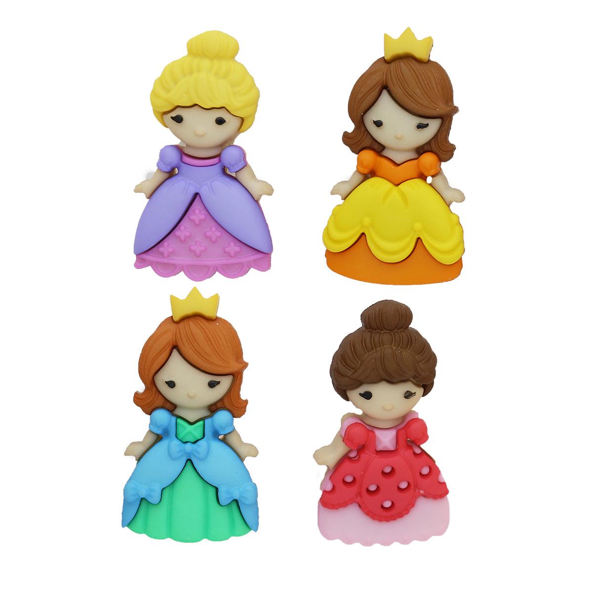 9004, Пуговицы-фигурки. Красавица на балу Dress