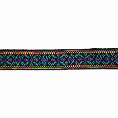 957455 Эластичная лента Color 'Цветок' 25мм, 7м, лиловый/бирюзовый Prym