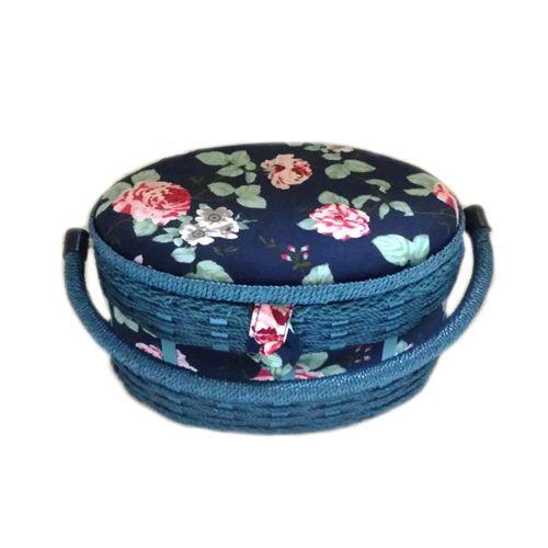 16050 Шкатулка декоративная 'Роза на синем', 24,5*18*13,5 см