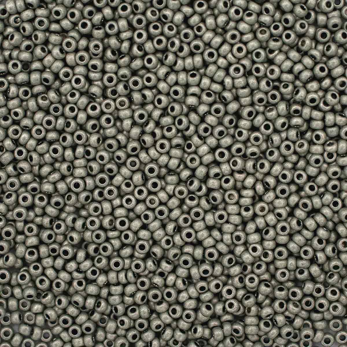 (18542) 331-39001-10/0 Бисер металлик матовый 10/0, круг.отв., 20гр Preciosa