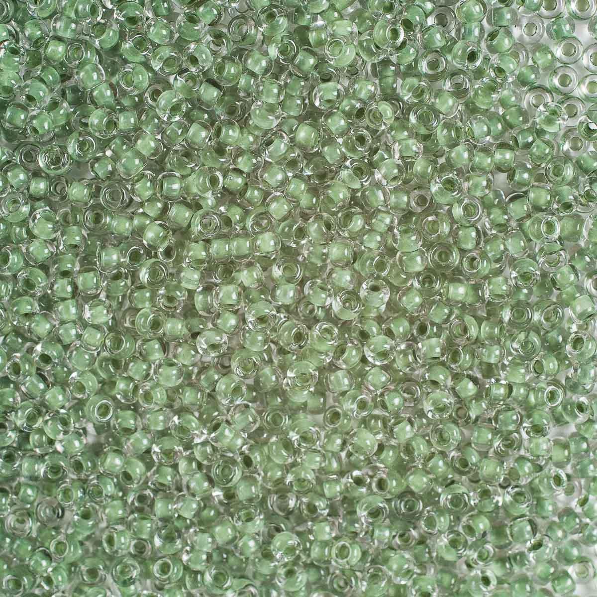 (38359) 331-19001-10/0 Бисер прозрачный с цветным центром 10/0, круг.отв., 20гр Preciosa