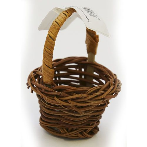 Корзинка плетеная коричневая 3*3
