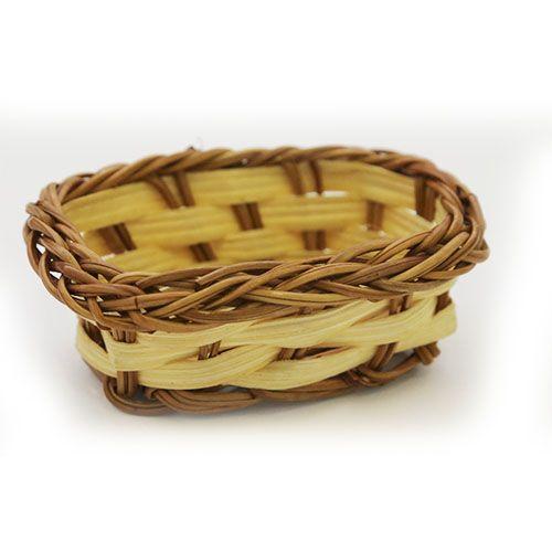 Лоток плетеный, цв. желто-коричневый 4*1*3 см