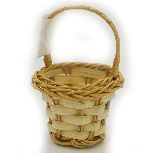 Корзинка плетеная, цв. бело-желтый, 4*2,5 см