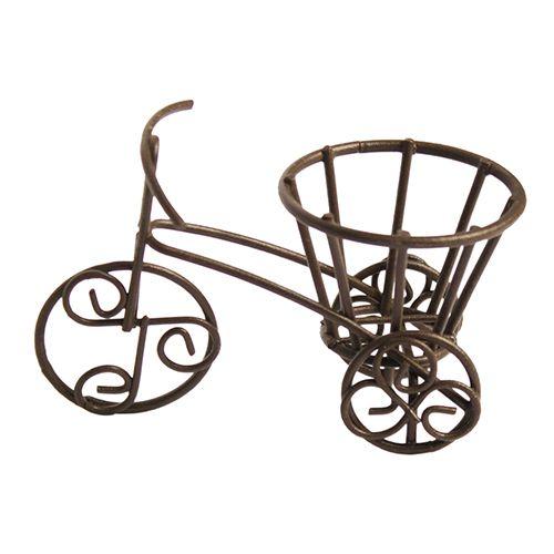 KB2675 Металлический трехколесный велосипед, корич. 7*4*3*4*5см Астра