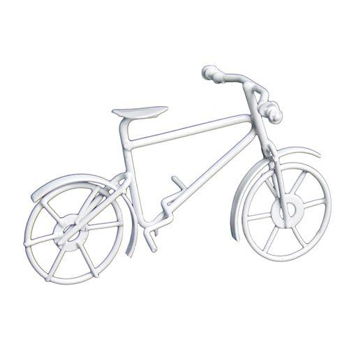 KB2814-W Металлический велосипед, белый 9,7*5,5см Астра