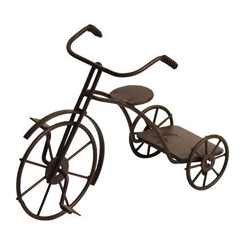 KB2656 Металлический трехколесный велосипед, корич. 5*12*5*8,5см Астра