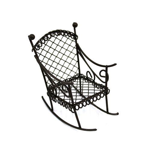 KB2783-RU Металлическое кресло-качалка, корич. 8*4,5*7,5см Астра