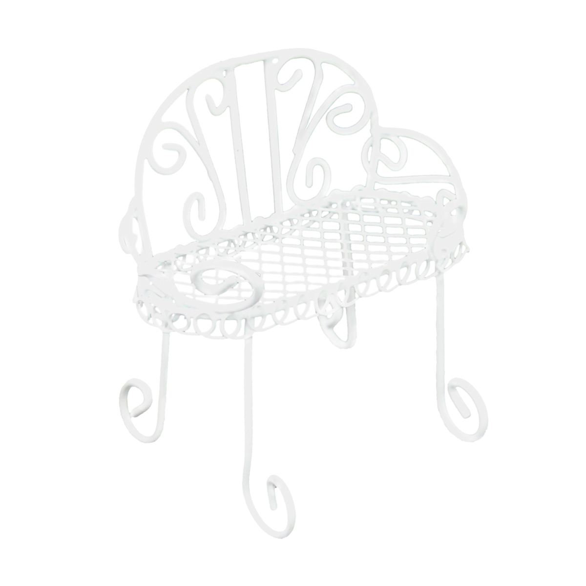 KB3135 Металлический мини стул, белый 8,7*4*7,5см Астра