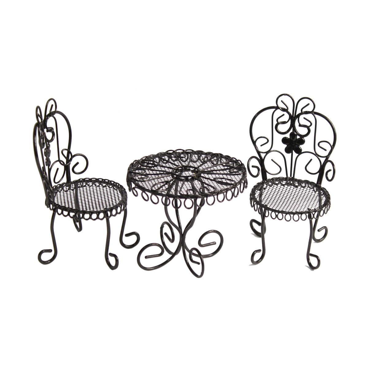 KB3585 Набор метал. стол 8*7см с 2-мя стульями 5*4*11,5см, черный Астра (3шт/упак)