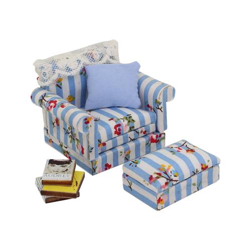 1181005 Набор для изготовления миниатюры:диван 5*6,2*5см и пуфик 1,9*4*2,5см