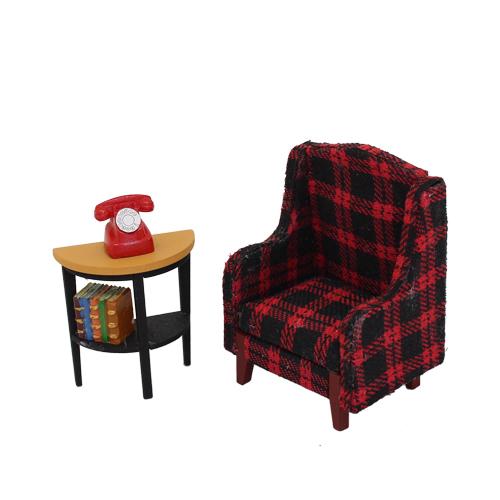 1181008 Набор для изготовления миниатюры:кресло 7,2*5,5*4,2см и столик 4,4*4,4*2,2см