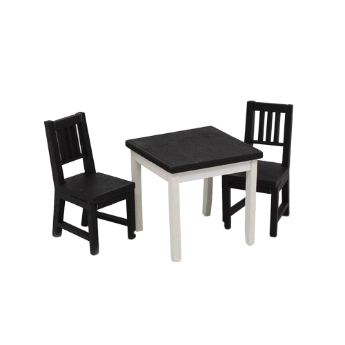 1181013 Набор для изготовления миниатюры: обеденный стол 4*4,1*4,1см и стул 5*2,4*2,5см