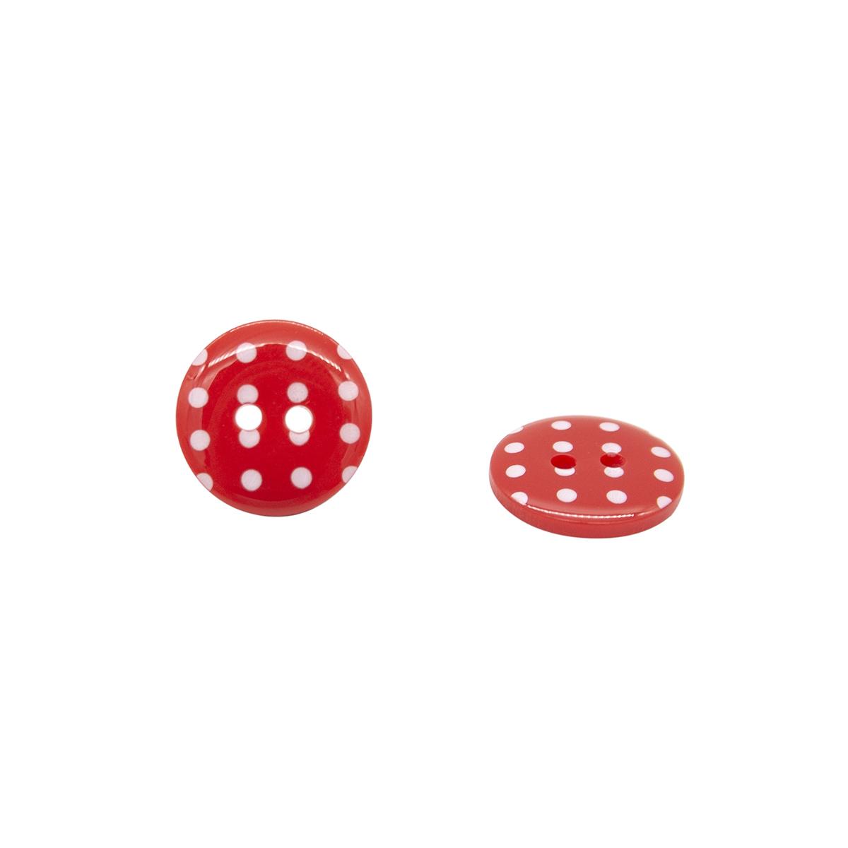 Q7125 FSS Пуговица, Горошек 24L (329 красный)