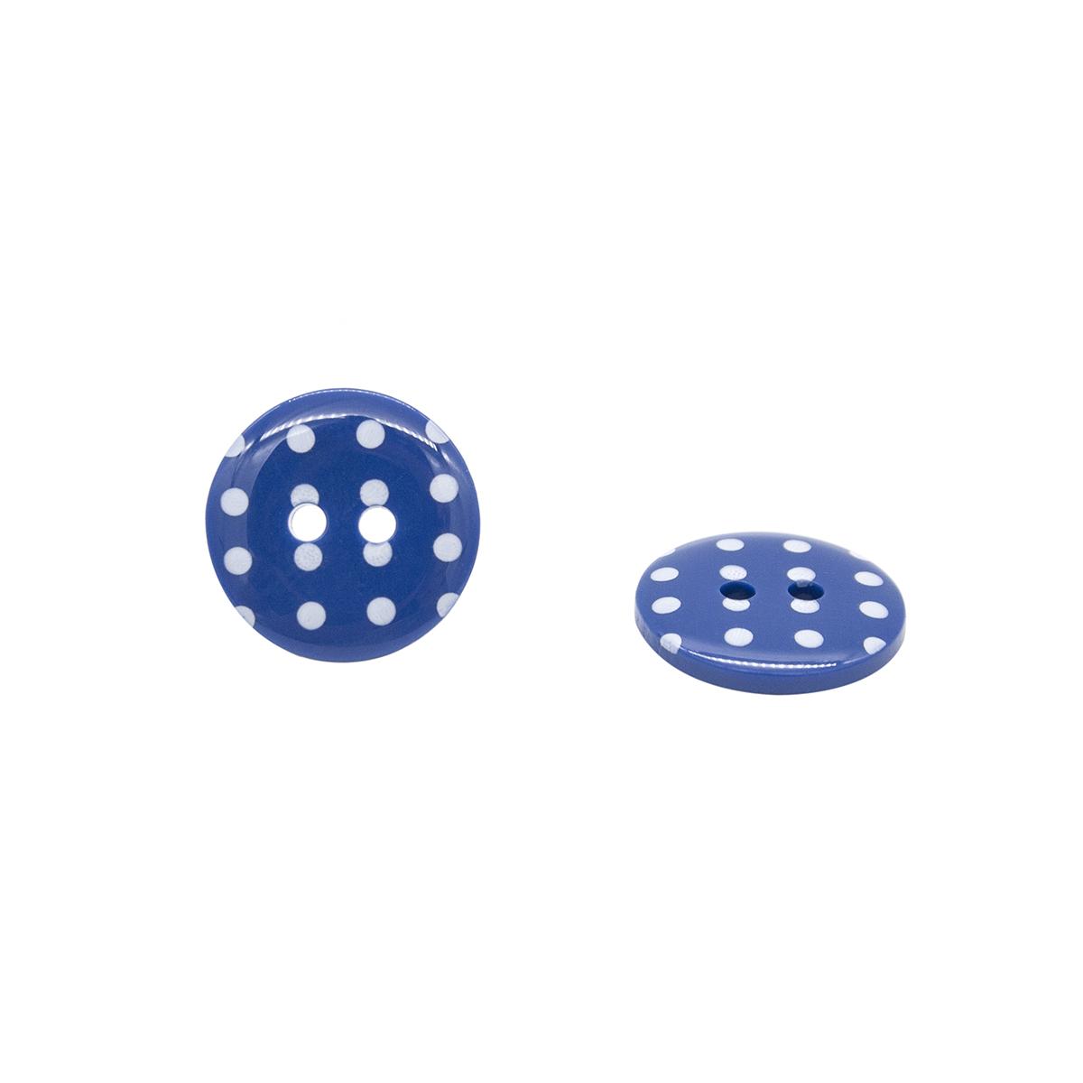 Q7125 FSS Пуговица, Горошек 24L (765 синий)
