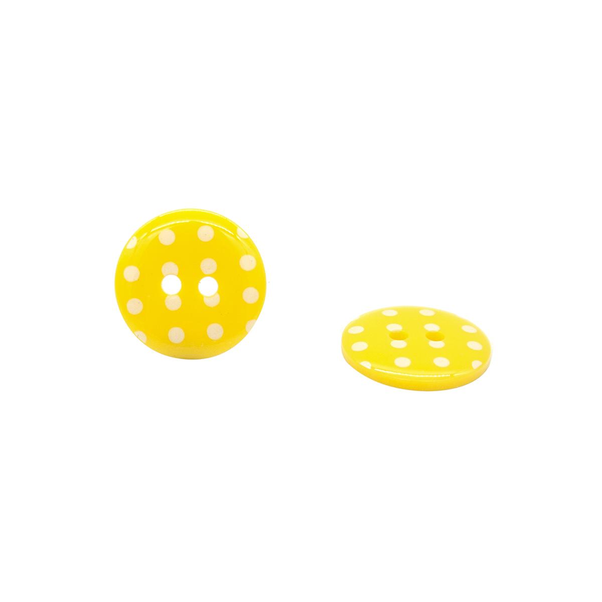Q7125 FSS Пуговица, Горошек 28L (113 желтый)