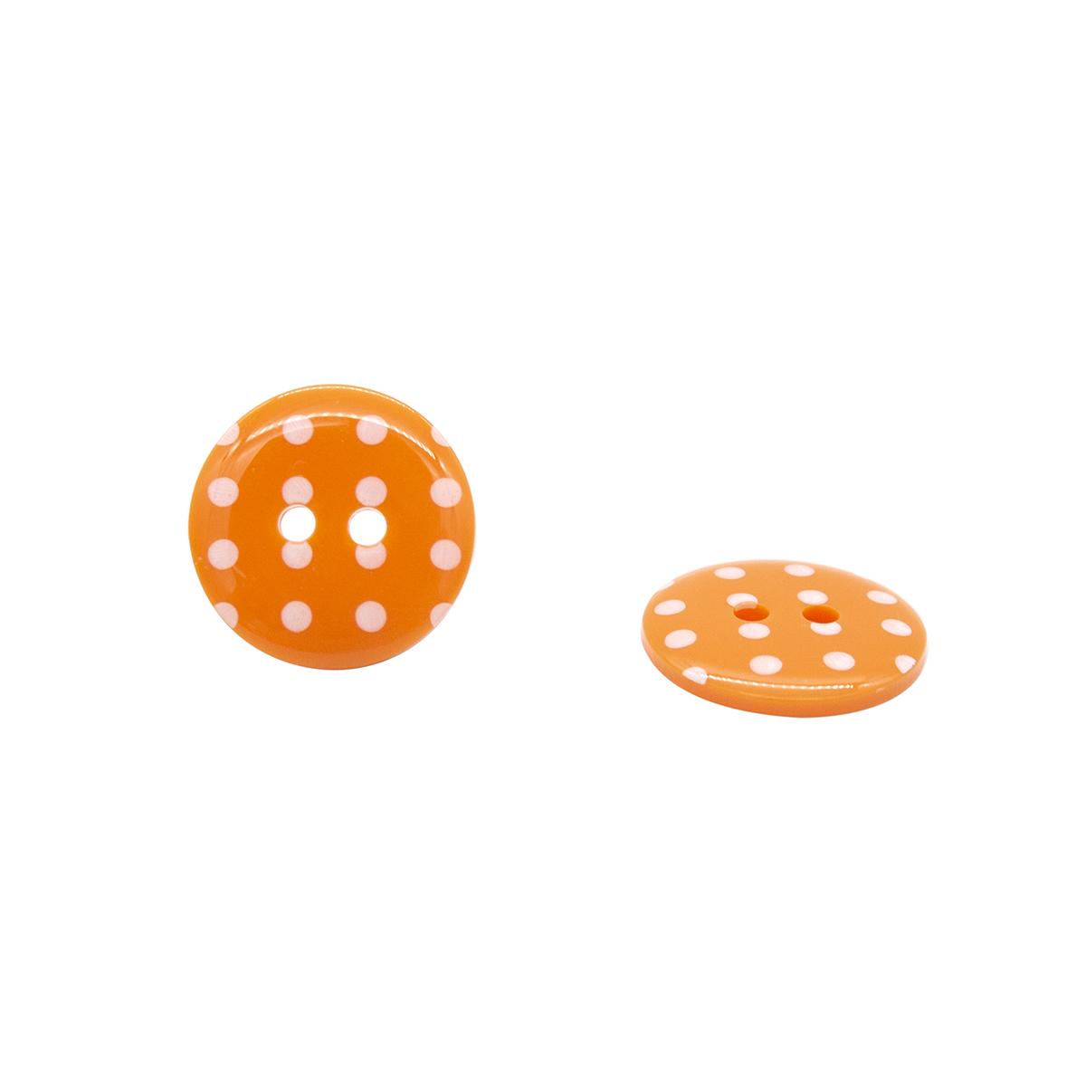 Q7125 FSS Пуговица, Горошек 28L (331 оранжевый)